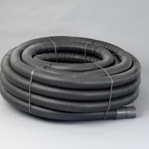 Land Drainage Coil 80mm Black Perforated