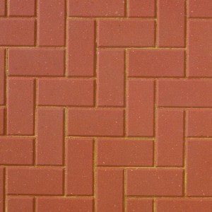 Brett Red Omega Block Paving 200x100mm