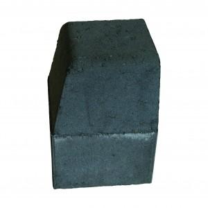 Brett High Kerb Corner External Charcoal 150x150x200mm Half Batter