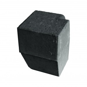 Brett High Kerb Corner Internal Charcoal 150x150x200mm Half Batter