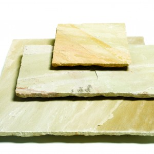 Golden Fossil Sandstone Single Size Paving