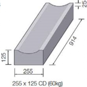 225mmx125mmx914mm Dished Channel
