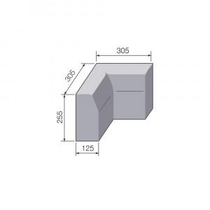 255mmx125mm HB External Angle Kerb