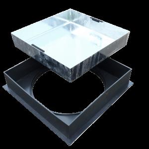 450 x 450 Galv Block Pavior MHC&F Square To Round (R2-450P-SLK)