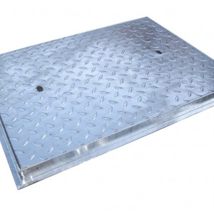 600 x 450 Galvanised MHC&F 44T - Chequer Plate (F104CG)