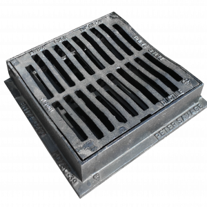 300 x 300 Hinged & Dished Gully Grate B125 (KD73C)